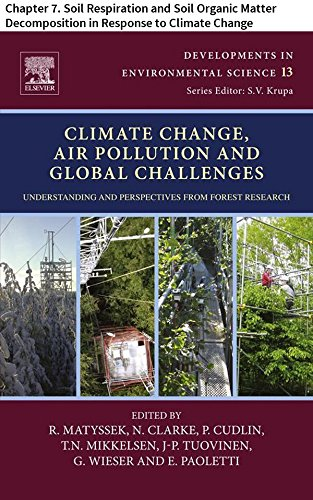 Climate Change, Air Pollution and Global Challenges: Chapter 7. Soil Respiration and Soil Organic Matter Decomposition in Response to Climate Change (Developments ... Science Book 13) (English Edition)