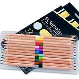 Solabela 12 Bi-Color Cedar Wood Pencil Set - 24 Colors