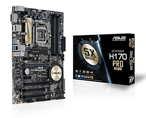 Asus H170-Pro/USB 3.1 Mainboard Sockel 1151 (ATX, Intel H170, 4x DDR4 Speicher, 6x SATA 6Gb/s, 2x USB 3.1, 3x USB 3.0, 2x USB 2.0, PCIe 3.0)