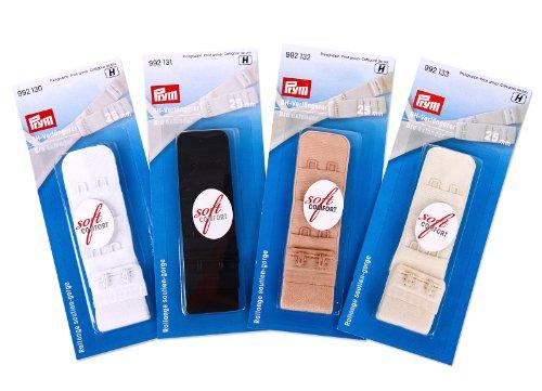 PRYM Prym BH Verlängerung Set 25 mm 4 Farben schwarz, weiß, haut, champagner
