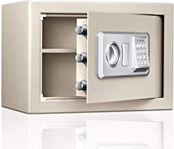 Cabinet Safes Digital Electronic Safe Box Small Home Office Safe with Electronic Keypad Safe (Color : Silver, Size : 25.8x...