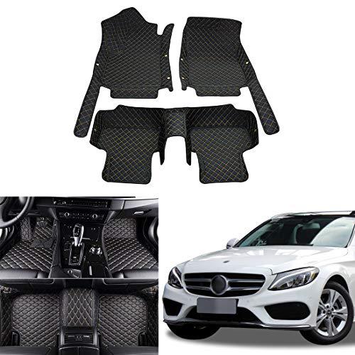 OREALTECH Fußmatte Auto für Mercedes-Benz Klasse C W205 A205 C204 C205 S205 2015-2019 Allwetter XPE Leder Autoteppich 3D All-Inclusive-Stil Automatte vorn und hinten