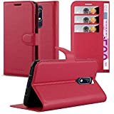 Cadorabo Coque pour Nokia 5.1 2018 en Rouge Cerise - Housse Protection avec Fermoire Magnétique,...