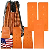 Cold Creek Loggers - Made in USA! - Orange Spiked Tree Wedges for Tree Cutting Falling, Bucking, Felling Wedges Chainsaw Loggers Supplies, 3-5.5' and 3-8' Wedges Plus Free Storage Bag