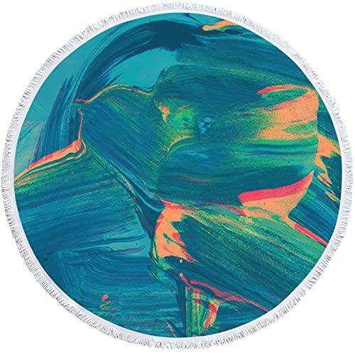YDyun Grande, Multiuso - Telo Mare Antisabbia Matrimoniale, Leggero,Teli Mare Grandi - Asciugamano Rotondo 3D colorato