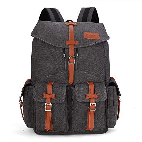 Forestlang Waterproof Travel Laptop Backpack - 22L Extra Large Business Shoulder Bag with USB Headphone Charging Port, Tablet Durable College Book Bag, Women Men Computer Bag (Grey)