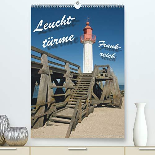Leuchttürme Frankreich (Premium, hochwertiger DIN A2 Wandkalender 2021, Kunstdruck in Hochglanz): Leuchttürme an Frankreichs Westküste (Monatskalender, 14 Seiten )