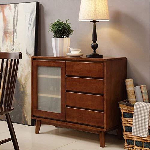 Mesa de centro para sala de estar, Aparador Armario de almacenamiento Mid-Century Modern Buffet Aparador Cocina Comedor Almacenamiento Bar Gabinete Sala de estar (Color: Color nogal, Tamaño: 90x40x8