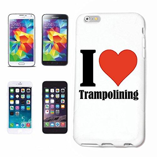 Bandenmarkt telefoonhoes compatibel met iPhone 7+ Plus I Love Trampolining hardcase beschermhoes mobiele telefoon cover Smart Cover