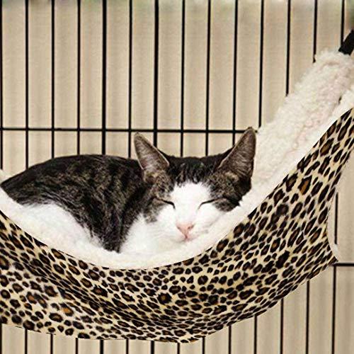 OCSOSO Cat Hammock Kitten Pet Cage Hammock Bed Hanging Soft Under Chair