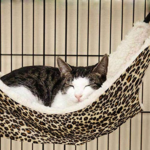 OCSOSO Cat Hammock Kitten Pet Cage Hammock Bed Hanging Soft Under Chair for Kitten Ferret Puppy or...