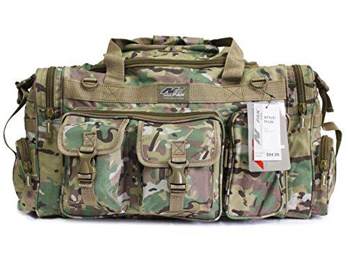 NexPak USA 66cm 1200cu. in. Borsone tattico Militare Molle Gear Tracolla Bag Multi Camo Verde