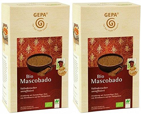 GEPA Bio Mascobado Vollrohrzucker 2000g (2 x 1000g) Fair Trade Zucker unraffiniert