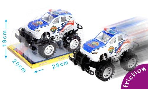 Mgm - 020281 - Véhicule Miniature - 4 X 4 Police Friction Intérieur Argente - 28 X 19,5 Cm - 24 Cm