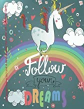 Cute Rainbow Unicorn 2017-2018 18 Month Academic Year Planner with Inspirational: with Inspirational Quotes July 2017 To December 2018 Calendar ... Quotes (2018 Cute Planners) (Volume 30)