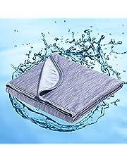 Marchpower Arc-chill® Bomullskyltäcke, senaste Cool-to-Touch-teknik, Lätta svala filtar för heta sovande nattliga svettar Andas alla säsongsfiltar Q-MAX> 0,4 - Blå, 150 * 200 cm