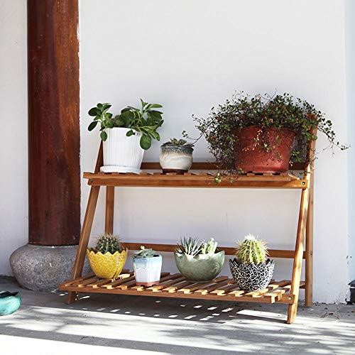 HIHNLI meerlaagse bloemenstandaard, nanmu, de creatieve meerlaagse bloemenstandaard voor buiten, binnenkeuken/woonkamer/slaapkamer multifunctionele tentoonstellingsstand opvouwbaar