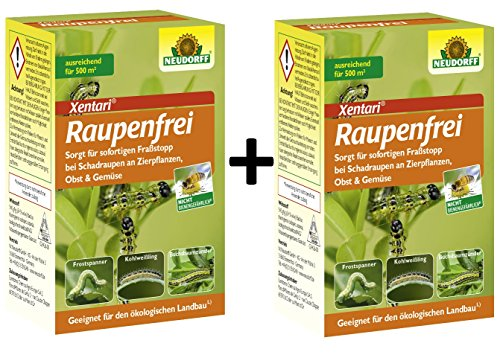 Raupenfrei Xentari gegen Buchsbaumzünsler und Anderen Raupen 2 x 25 g