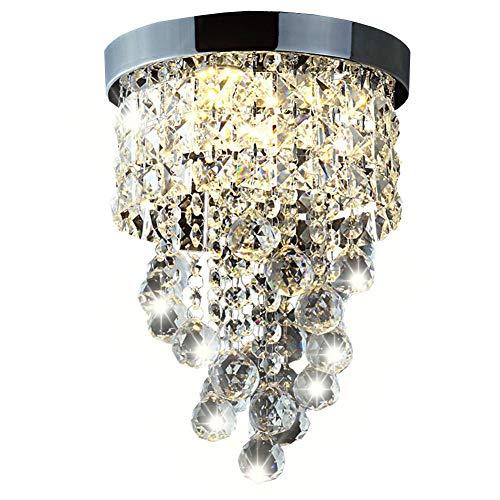Dellemade Kristall Kronleuchter Modern Deckenleuchte Für Treppenhaus, Küche, Esszimmer, Kinderzimmer,3 Lichts, LED Lampen Enthalten