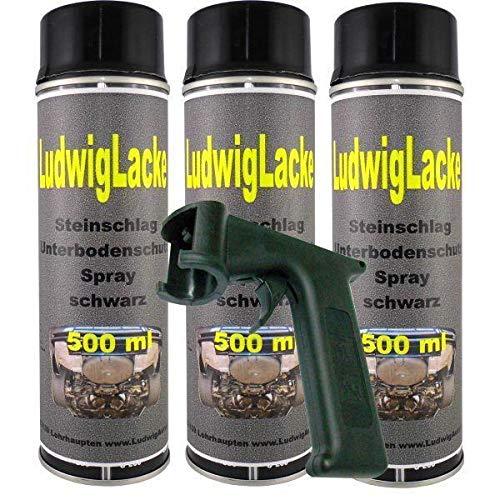 Steinschlagschutz UBS schwarz 3 x 500 ml Spray Plus Haltegriff