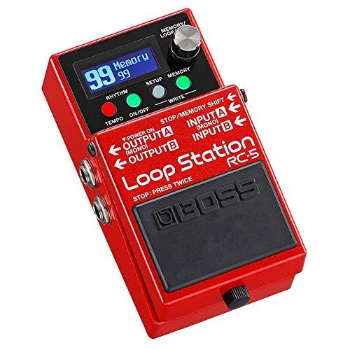 Boss RC-5 Looper Pedal de efectos + fuente de alimentación Keepdrum de 9 V