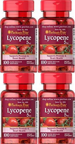 4 Lycopène 5 mgr. 100 caps. Puritan's Pride
