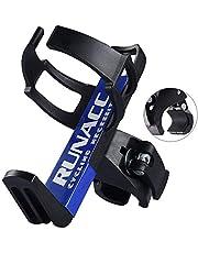 Runacc サイクルボトルケージ 自転車用ボトルホルダー ドリンクホルダー クランプ式 調整可能 ブラック