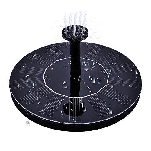 Fontaine solaire, pompe à eau pour panneau solaire MAXIN 1.4W, pompe extérieure pour bain d'oiseaux, aquarium, petit étang, décoration de jardin