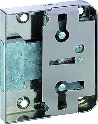 1 Stück Riegelschloss 772 mit 3 Zuhaltungen zum Aufschrauben rs/ls mit 1 Schlüssel Dorn 50 mm 0772 50002