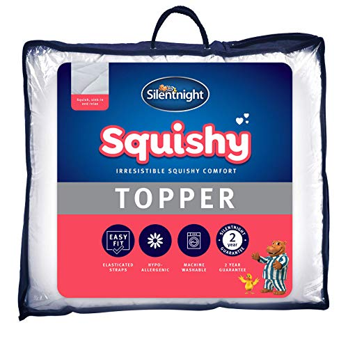 Silentnight Squishy Topper Double - Best Thick Deep Mattress Cover Pad - Machine Washable Hypoallergenic Bed Toppers