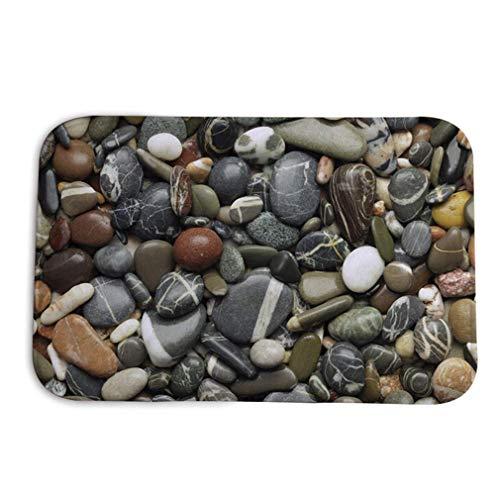 N-K Pulabo, tappetino per pavimento in pietra 3D, geometrico, antiscivolo, per il bagno, il soggiorno, per interni ed esterni, durevole e utile