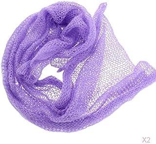 STOBOK Envolturas El/ásticas para Reci/én Nacidos Accesorios de Fotograf/ía para Beb/és Envoltura Ondulada Larga con Tocado Trajes de Manta Diy Envolturas para Beb/és Y Ni/ñas Azul