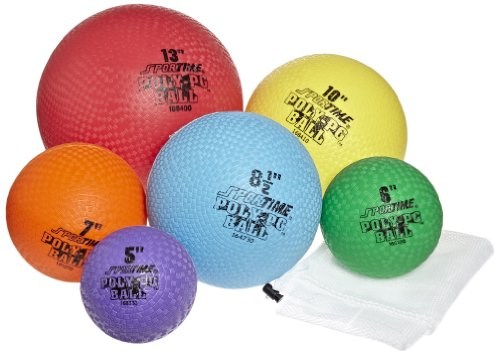 Big Sale Best Cheap Deals Sportime Poly-PG Balls Pack - Assorted Sizes - Set of 6 - Red, Yellow, Blue, Green, Purple and Orange