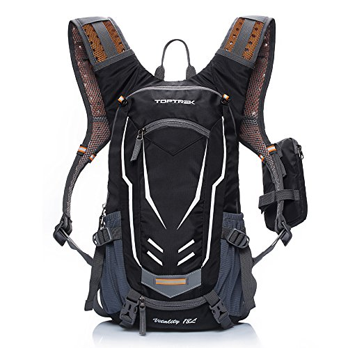 TOPTREK Cycling Backpack Waterproof for Men and Women Mountain/Road/Street Bike Hydration Bladder Bike Packs with Rain Cover