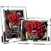 UMI. by Amazon Marcos de Fotos de Vidrio 15 x 20 cm para sobremesa, Pack de 2