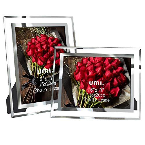 Amazon Brand – Umi Cadre Photo 15x20 cm Cadres en Verre Lot de 2 à Poser sur Table
