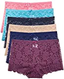 Barbra's 6 Pack of Women's Regular & Plus Size Lace Boyshort Panties (3XL) Rose from