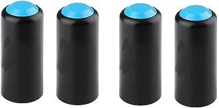 ULTNICE 4unidades micrófonos batterieabdeckung Wireless Mic batería a tornillo protectora Micrófono protectora para Shure pgx2/4slx24/SM58/PG58/beta58(Azul)