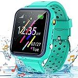 Smooce Reloj Inteligente para niños,Smartwatch para Niños de música a Prueba de Agua para teléfono móvil para niños niña niño(Que Incluye Micro SD de 1 GB) (Verde)