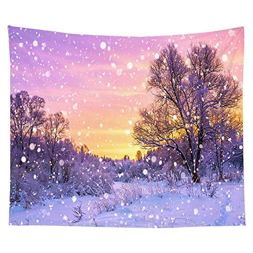 Tapiz de navidad pintura de acuarela impresión de árboles de navidad tela colgante de interior decoración de la pared tela de fondo tela a12 73x95cm