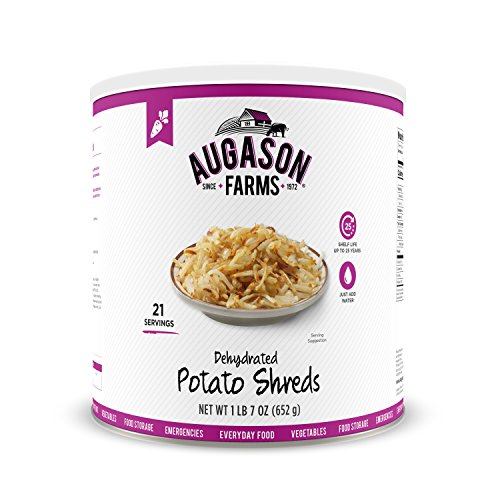 21-Servings Augason Farms Dehydrated Potato Shreds  $8.14 at Amazon