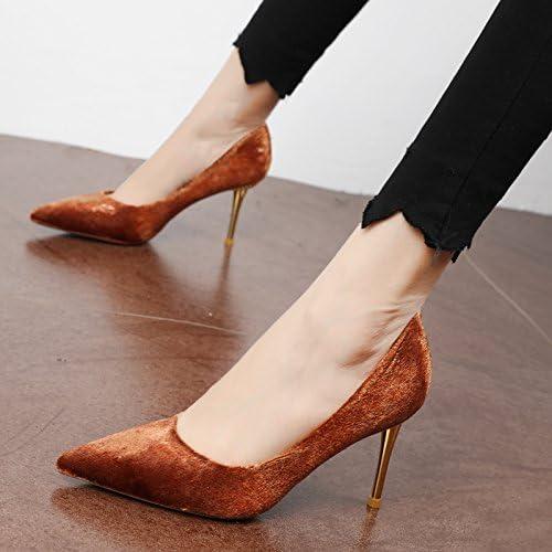 FLYRCX Mme jinsirong a Fait très Bien avec Le tempéraHommest de Haut Grade Partie individuelle Sexy Heels chaussures