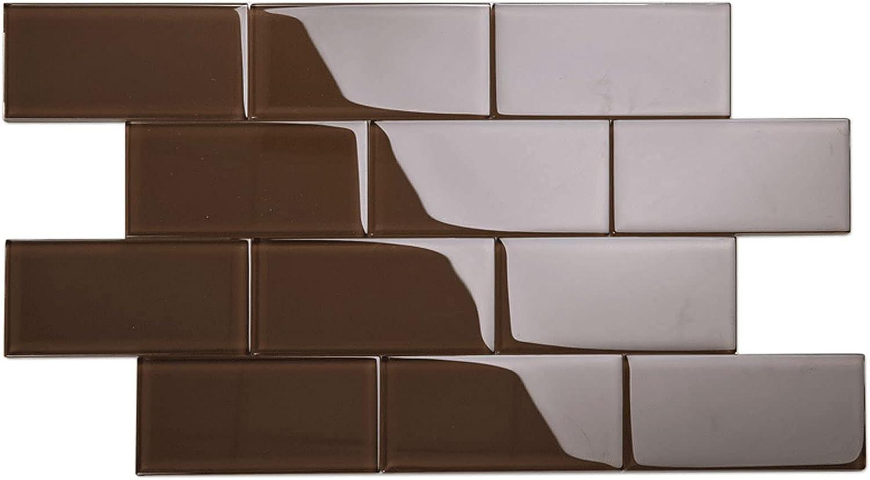 Giorbello Glass Subway Backsplash New popularity Tile Brown x 6 3 Classic price