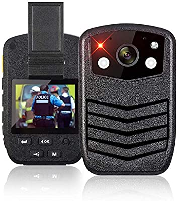 1440P HD Police Body Camera, 64G Memory Portable Body Camera, Waterproof Body-Worn Camera with 2 Inch Display, GPS for Law Enforcement Recorder, 170° Wide Angle, Night Vision, Motion Detection