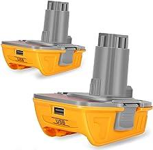 Adaptador de batería de repuesto DCA1820 para herramientas Dewalt 18 V/20 V NiCad & NiMh, batería de litio para convertir en taladro de níquel y cargador, adaptador para batería DeWalt