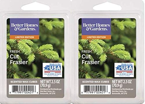 Better Homes and Gardens Fresh Cut Frasier Wax Cubes (2 Pack - 12 Cubes)