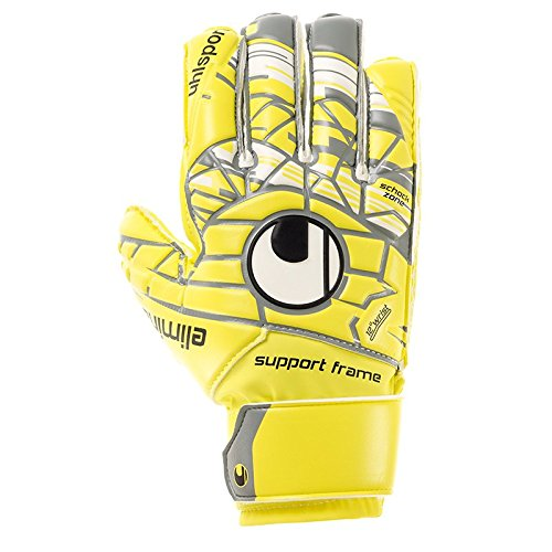 uhlsport Herren ELM Unlimited Soft SF JUNIOR Torwart-Handschuhe, LITE Fluo gelb/Griffin gr, 4.0