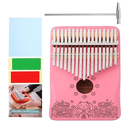 Generic 17 Schlüssel Kalimba Daumen Klavier Holz Mbira Finger Klavier Musical Instrument Geschenke für Kinder Erwachsene Und Anfänger