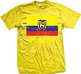 NOFO Clothing Co Flag of Ecuador, Ecuadorian Flag, Orgullo Men's T-Shirt, XXXL Yellow