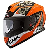 Smk Twister Zest Ma271 Pinlock Fitted With Clear Visor Men's Helmet (Orange White, Large)